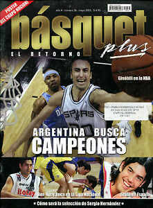 MANU GINOBILI NBA 2005 Rare Basquet Magazine - Argentina Basketball ...