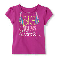big Sisters Rock Glow In Dark Girls Shirt 18-24 Months 2t 3t 4t Gift