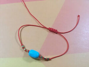 Turquoise-amp-Gold-Charms-Red-Thread-Protection-Evil-Eye-Handmade