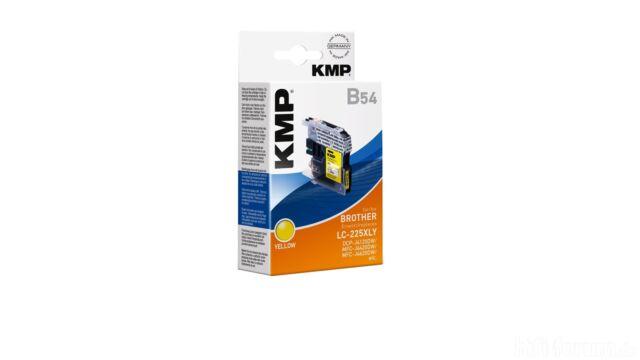 KMP Patrone B54 komp. zu LC-225XLY  für Brother DCP-J4120DW etc.yellow