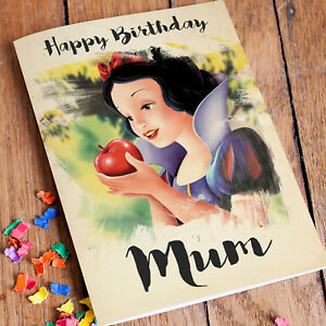 Image Is Loading Snow White Personalised Birthday Card FREE Shipping Mum