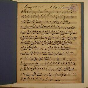 HAYDN-SYMPHONY-13-flute-partie-antique-musique-manuscrit