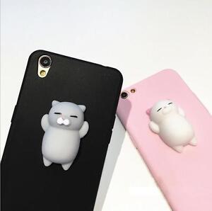 2017 Squishy 3D Soft Silicone Cat Bear TPU Phone Case Cute Cover ... b15a130eb4