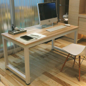 Wood Computer Desk Pc Laptop Table Workstation Study Home Office Furniture Us Ebay