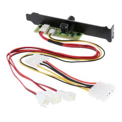 3 PCI Fan Speed Controller Hub for Computer Case Splitter Mini 3Pin Port 12V