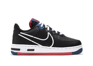 Nike-Air-Force-1-UK-Size-4-Women-039-s-Trainers-Black-One