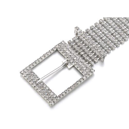 Bling Crystal Strass Kette Taille Schnalle Gürtel Mode Accessoire für