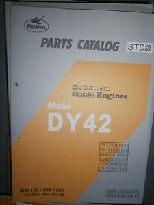 2019 Nouveau Style Robin Engines Dy42 : Parts Catalog 11/1999 Garantie 100%