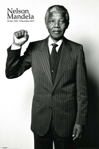 Two BRAND NEW NELSON MANDELA Posters 24x36 Rights Equality freedom peace love