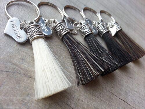 Horse Hair Key ring /'Stubby Brush/' made from your Horse/'s tail Memento//Keepsake