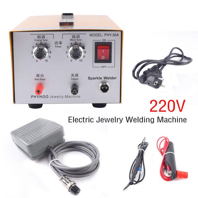 400W 220V Argon Pulse Spot Welder Necklace Bracelet Jewelry Welding Machine UK