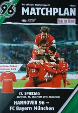 Programm 2015/16 Hannover 96 - Bayern München