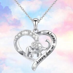 Immer-in-meinem-Herzen-Halskette-von-Elefanten-Zircon-Anhaenger-von-Tieren