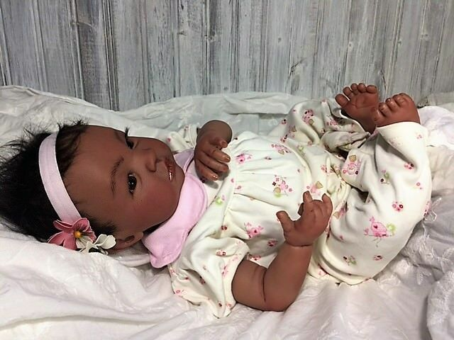 Reborn Biracial  Sheliah -Baby Doll Therapy for Kinder, Dementia and speziell Needs