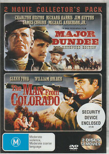2-Movie-Collector-039-s-Pack-Major-Dundee-amp-The-Man-From-Colorado-2-DVD-Set