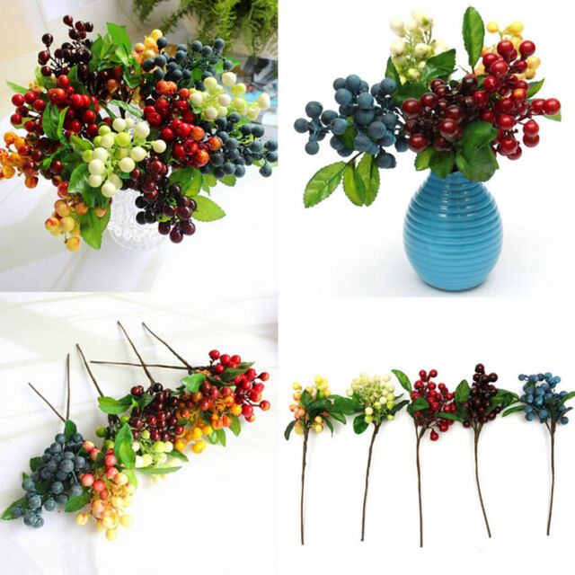 Artificial Berry Silk Flower Leaf Bouquet Home Party Wedding Garden Decor ATAUÑÑ