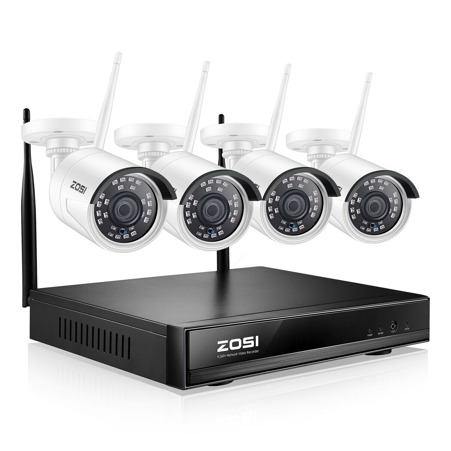 ZOSI 8CH HD 1080p Wireless Security IP Camera System 2MP WIFI NVR Kit Outdoor. Buy it now for 149.99