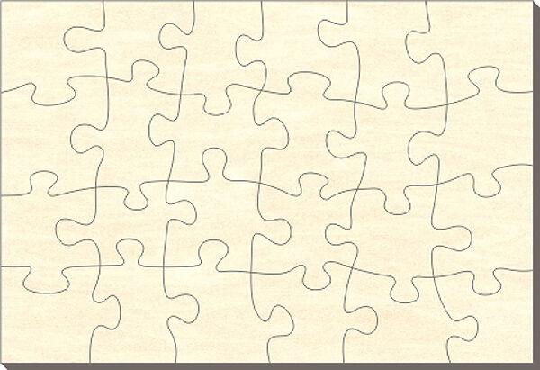 Offerte iniziali LEGNO-puzzle rettangolo, 24 parti, 112x76 cm, per dipingere anche