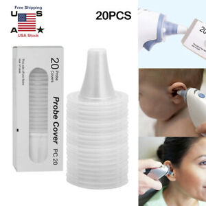 20pcs Ear Thermometer Replacement Lens Filter Probe Covers For Braun Thermoscan