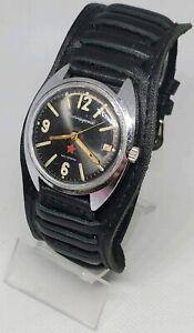 Selten-Vintage-Militaer-Vostok-Wostok-Komandirskie-Chistopol-Zakaz-MO-USSR-watch