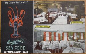 Details About 1951 Pc Eugene S Seafood Restaurant Milwaukee Wis Wi