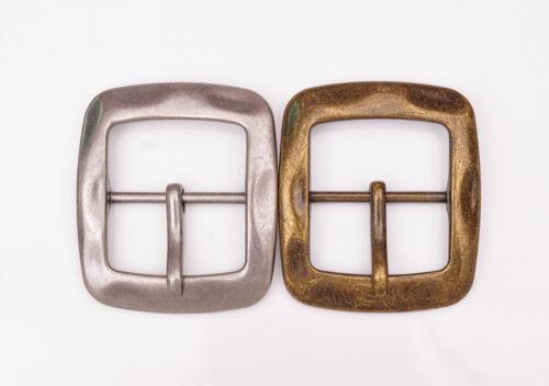 Vintage Brass Center Bar Belt Buckle for DIY Leathercraft Belt Fit 40mm Strap
