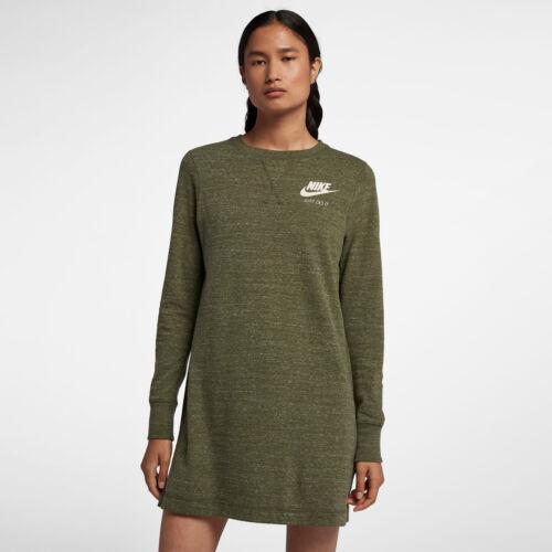 M Abito Sportivo Donna Lunga Nike Oliva Manica Vintage Palestra Abbigliamento 6H8qO8