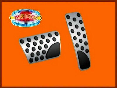 Stainless Steel Brake Pad Pedal Covers Challenger Charger Bright Mopar OEM