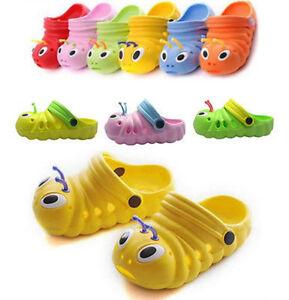 Toddler-Kid-Girls-Boys-Sandals-Croc-Caterpillar-Summer-Beach-Slippers-Flip-Shoes