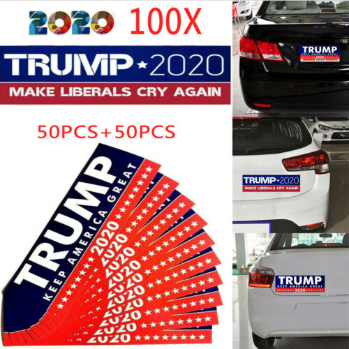 100X Donald Trump President 2020 Keep America Great  Car Bumper Stickers Lot