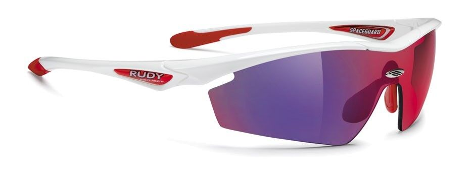 GLASSES RUDY Project SPACEGUARD White Gloss Lens Multilaser Red GLASSES RUDY PR