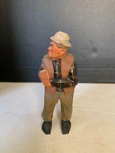 Vintage-Hand-Carved-Wood-Fisherman-Figurine