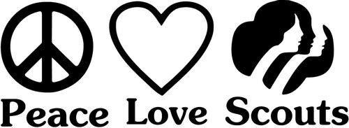 Peace Love Girl Scouts Home Decor Car Truck Window Decal Sticker
