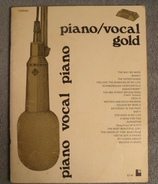Piano Vocal Gold Popular Hits Songbook Entertainer The Way We Were Mandy Mash