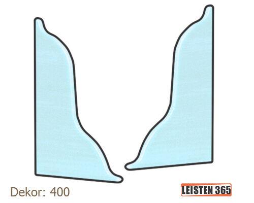 10-100 Meter SOCKELLEISTEN Fußleisten 52mm Weiß Laminat Kunststoff Kabelkanal