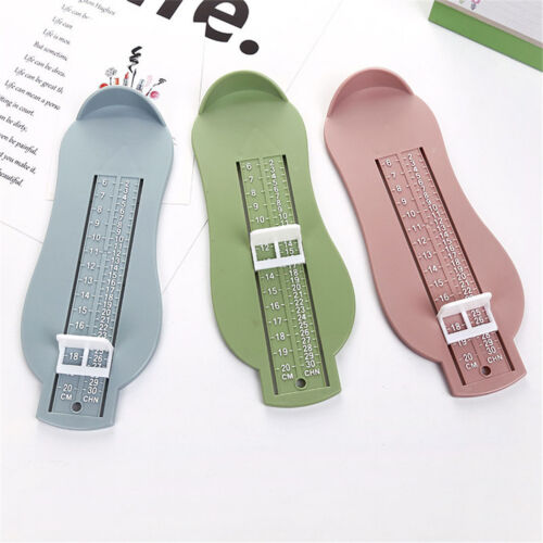 3 Farben Kinder Baby Fuß Schuhgröße Messwerkzeug Säuglingsgerät Lineal Ki CBL
