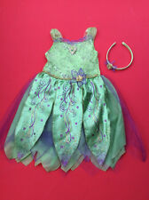 DISNEY TINKERBELL  COSTUME Tinker Bell Outfit and Headband age 3/4 years
