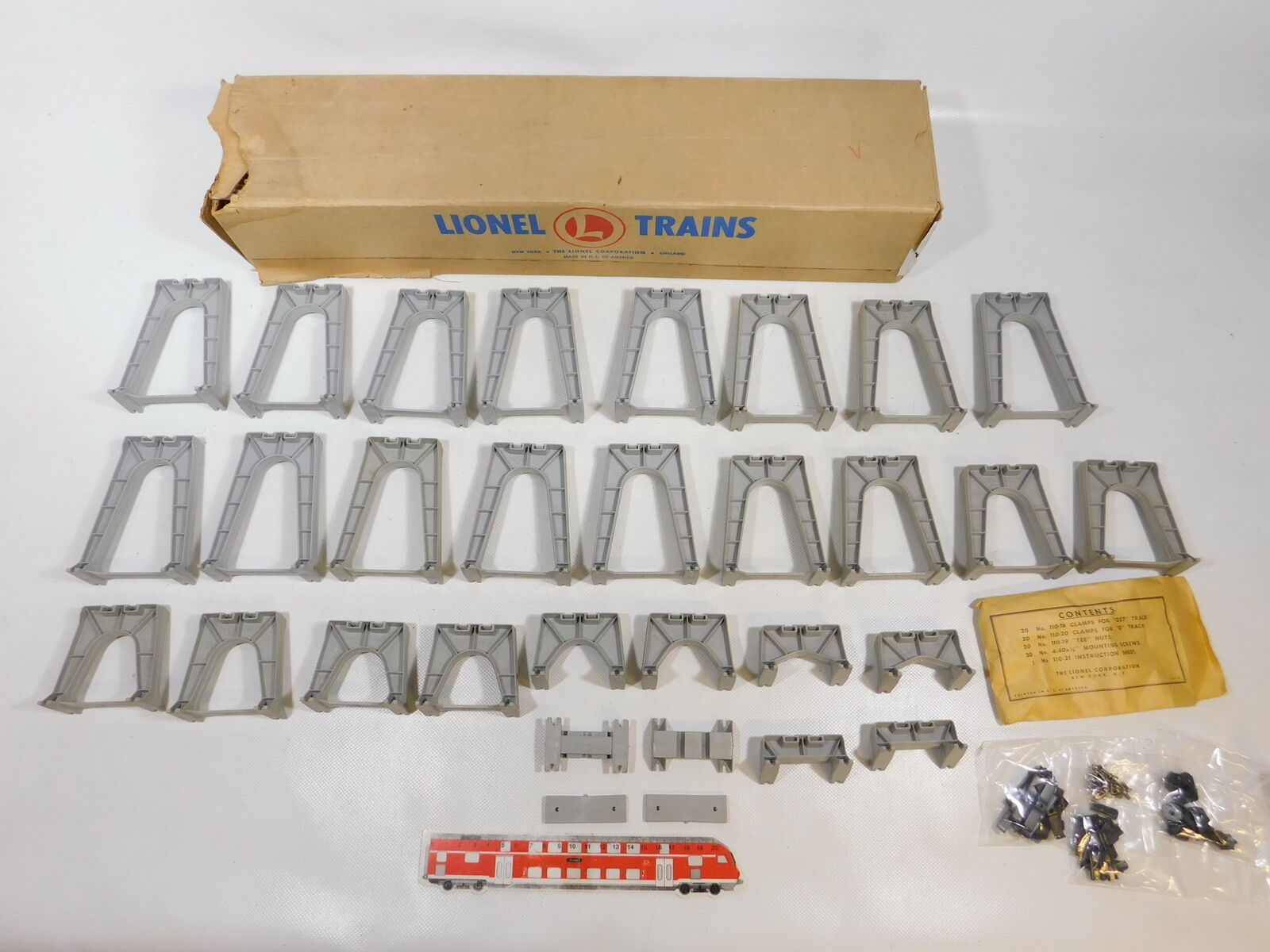CD79-3  Lionel Gauge 0 etc. Trestle Set 110 9 Bridge abulits a,Molto buona scatola
