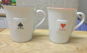 Las Vegas quality  Coffee Mugs, Cups x 2 ace of hearts and clubs.