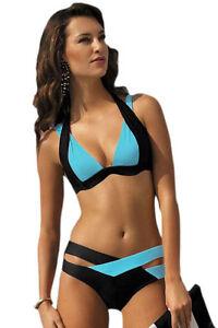 LC41249-Costume-da-Bagno-2-Pezzi-Bikini-Bicolore-Azzurro-Nero-con-Coppe-Push-Up