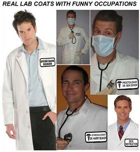 Details About Halloween Costume Funny Doctor Real Medical Lab Coat Best Quality Your Choice