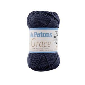 Patons-Grace-100-mercerized-cotton-1-75oz-50g-136yd-125m-Yarn-Navy