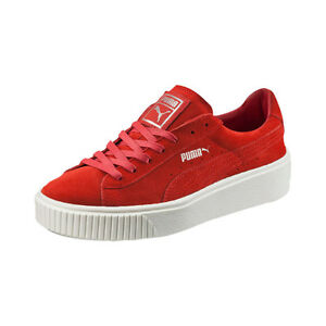 Image is loading Women-039-s-Suede-Platform-Red-362223-03-