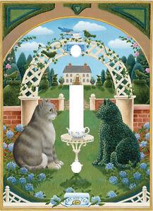 FELINE FLOWER GARDEN REFLECTION KITTY CAT LIGHT SWITCH PLATE COVER HOME DECOR  eBay