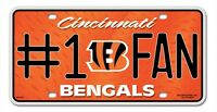 Cincinnati Bengals 6x12 Metal 1 Fan License Plate Car Brand Free Shipping