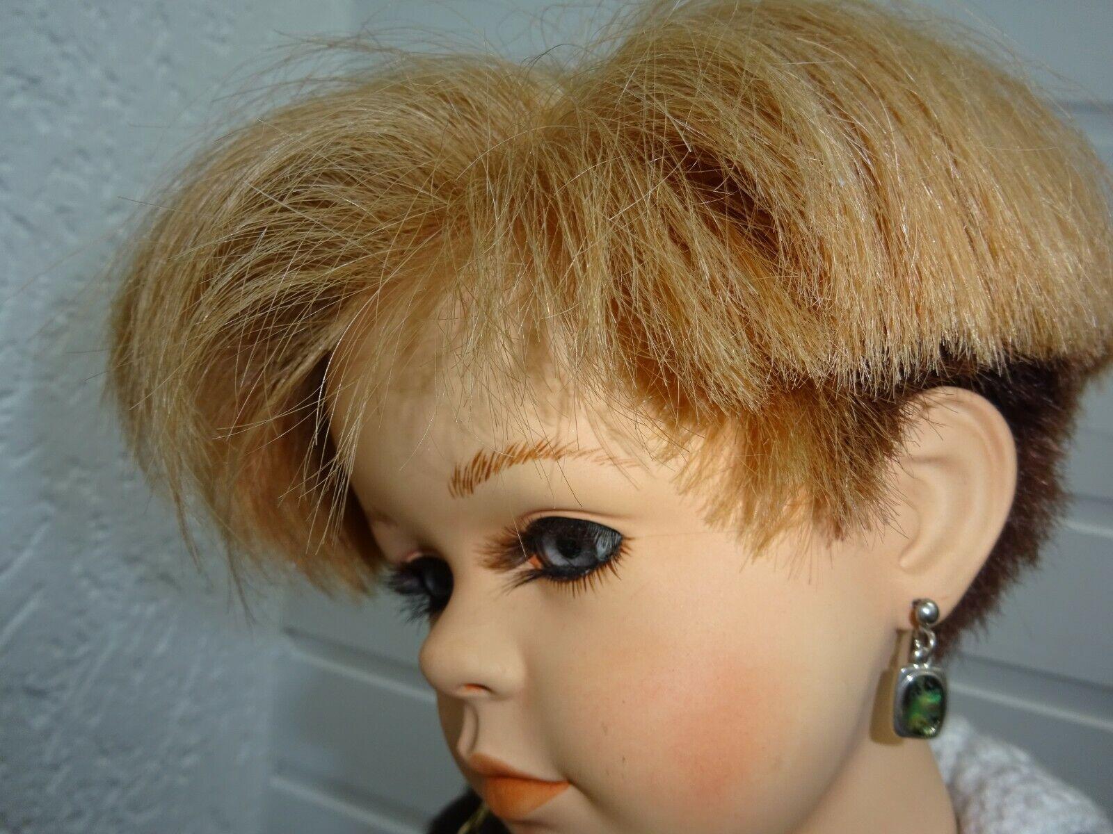 Puppenperücke hochwertiges Echthaar Kopfumfang 28- cm Künstlerpuppe rotbl. rotbl. rotbl. a7c4a6