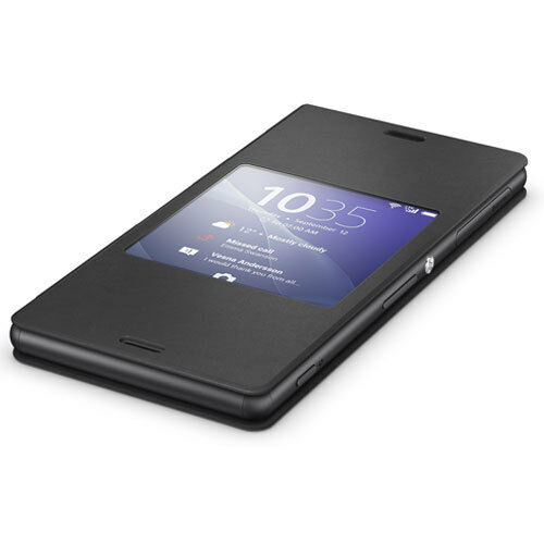detailed look 82e8b 00635 OFFICIAL SONY STYLE UP SMART WINDOW COVER CASE FOR SONY XPERIA Z3 - BLACK  SCR24