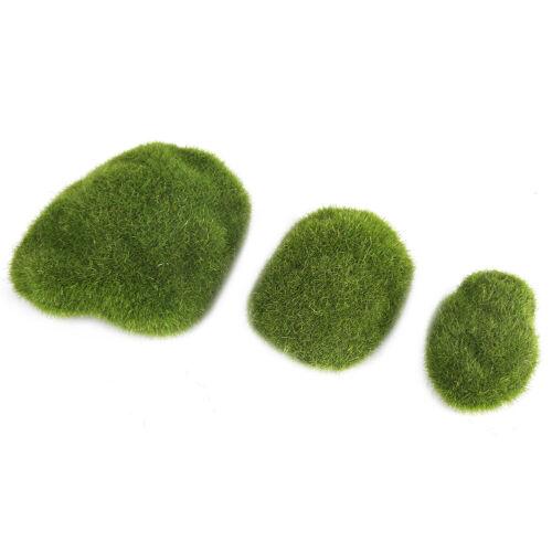 12Pcs Artificial Moss Stones Simulation Grass Bryophyte Bonsai Garden DIY Decor