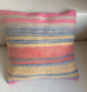 16X16 Vintage Modern Kilim Cushion Cover