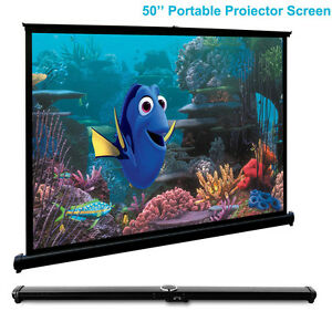 Portable-50-034-Tabletop-Projector-Screen-4-3-HD-Projection-Home-Cinema-Matte-White
